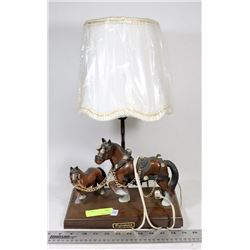 VINTAGE CLYDESDALE LAMP