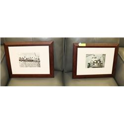PAIR OF VINTAGE REPLICA PHOTOGRAPHS FEATURING