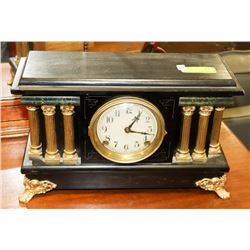 ANTIQUE MANTLE CLOCK BY SESSIONS CLOCK CO .