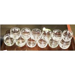 SET OF 12 SEAGRAMS WHISKEY MAP OF WORLD GLASSES