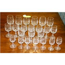 COLLECTION OF 23 LEAD CRYSTAL GLASSES