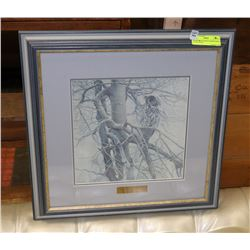 "ROBERT BATEMAN FRAMED PHOTO ""GHOST OF THE NORTH,"