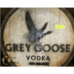 GREY GOOSE VODKA LOGOED BARREL, SWISHABLE.