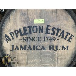 APPLETON ESTATE JAMAICAN RUM BARREL, SINCE 1749,