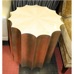 MODERN UMBRELLA PATTERN END TABLE ON WHEELS