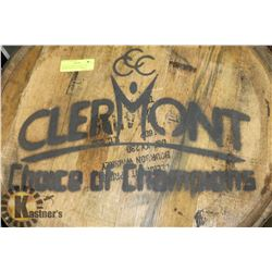 CLEMONT SPRINGS CHOICE OF CHAMPIONS LOGOED BARREL