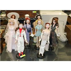 LOT OF 10 DOLLS 1995 THE GENE MARSHALL COLLECTION