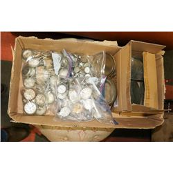 BOX OF ANTIQUE AND VINTAGE POCKET WATCHES