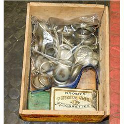 VINTAGE ORANGE BOX FILLED WITH POCKET WATCH