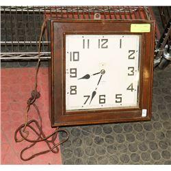 ANTIQUE WATERBURY ELECTRIC JEWELLED CLOCK