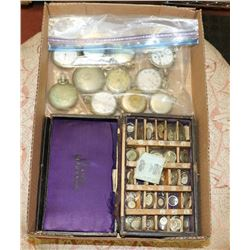 COLLECTION OF ANTIQUE POCKET WATCHES WITH