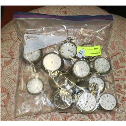 BAG OF ANTIQUE AND VINTAGE POCKET WATCHES