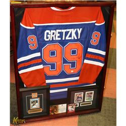 AUTOGRAPHED FRAMED WAYNE GRETZKY JERSEY WITH