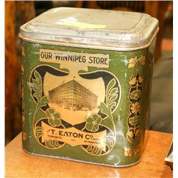 T. EATON CO LIMITED CAN FEATURING PICTURE OF