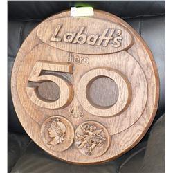 LABATTS 50 BEER SIGN.