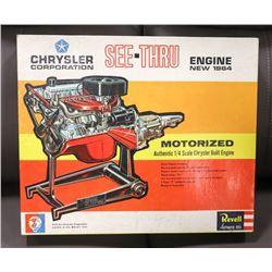 VINTAGE 1964 CHRYSLER CORP SEE THRU ENGINE 1/4