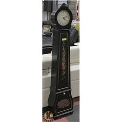PAINTED CLOCK WITH HOURLY CHIME