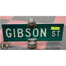 "VINTAGE ""GIBSON ST"" STREET SIGN"
