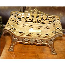 MINIATURE BRASS BENCH FOR DOLLS