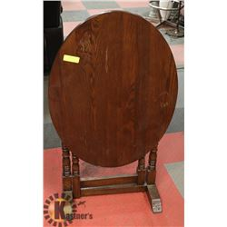 OVAL DROP LEAF WALNUT ANTIQUE TABLE