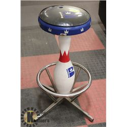 BRUSNWICK BOWLING PIN STOOL