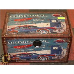 "1956 FILLING STATION TRUNK 23"" LONG X 14"" WIDE X"