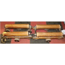 LOT OF 2 ANTIQUE CARPET AND LINO ROLLERS