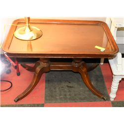 ANTIQUE DUNKAN FIFE COFFEE TABLE WITH REMOVABLE