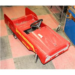 1960S AMF STEEL PEDAL CAR FIRE TRUCK