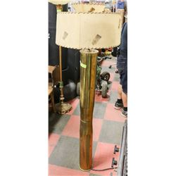 LARGE ARTILLERY SHELL LAMP WITH 50'S SHADE