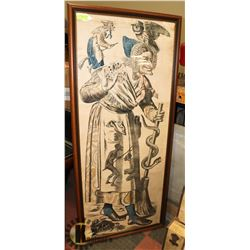 XL ANTIQUE WOOD FRAMED