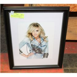 CARRIE UNDERWOOD FRAMED AUTOGRAPH 8 X 10 W/COA