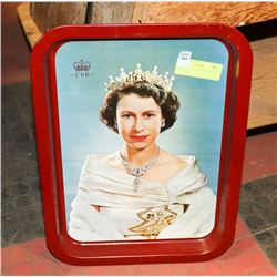 ORIGINAL 1953 QUEEN ELIZABETH METAL TRAY