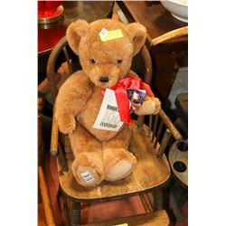"""21"""" HIGH BROWN BEAR WITH RED BOW"""
