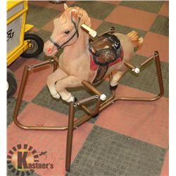 VINTAGE FUZZY ROCKING HORSE
