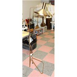 RETRO STYLE BRASS FLOOR ACCENT LAMP