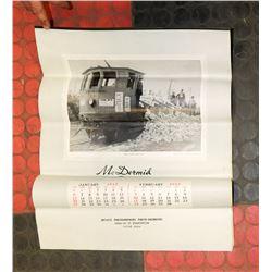1957 MCDERMID STUDIOS CALENDAR