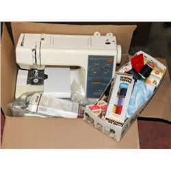 VINTAGE KENMORE SEWING MACHINE WITH BOX OF