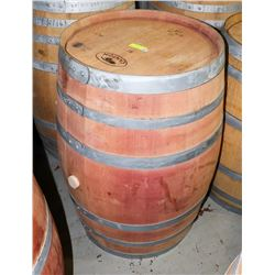 LOGOED POLISHED RED WINE BARREL 59 GAL CANTON