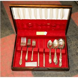 ANTIQUE CHEST OF SILVERWARE