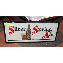 VINTAGE SILVER SPRING ALE ADVERTISING SIGN