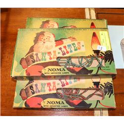 SET OF THREE 1950S NOMA SANTA LIGHTS.