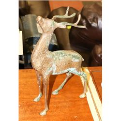 VINTAGE BRASS DEER STAG SCULPTURE.