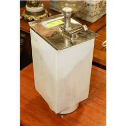 ANTIQUE SODA FOUNTAIN SYRUP DISPENSER