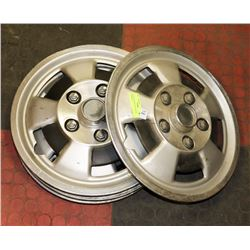 SET OF FOUR VINTAGE TRUCK HUBCAPS
