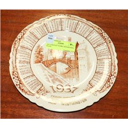 1937 JEWELLERY STORE ADVERTISING PLATE