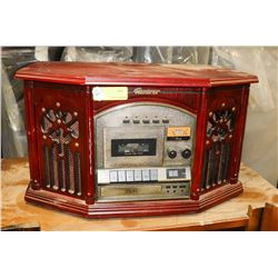 COLLECTORS EDITION RECORD PLAYER WITH CASSETTE