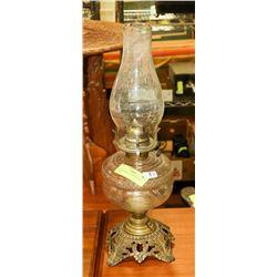 ORNATE WHITE STAR KEROSENE LAMP