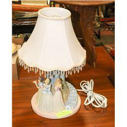 """DISNEY PRINCESS TABLE LAMP """"TWIRLING & DANCING"""""""