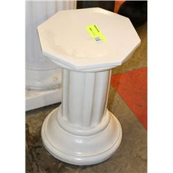 SMALL PEDESTAL WITH HINGED TOP
